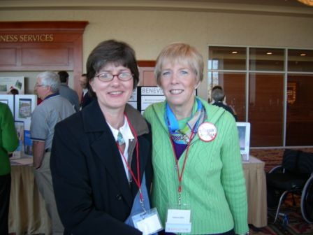 Pamela and Lynn Fields at the Hope Conference